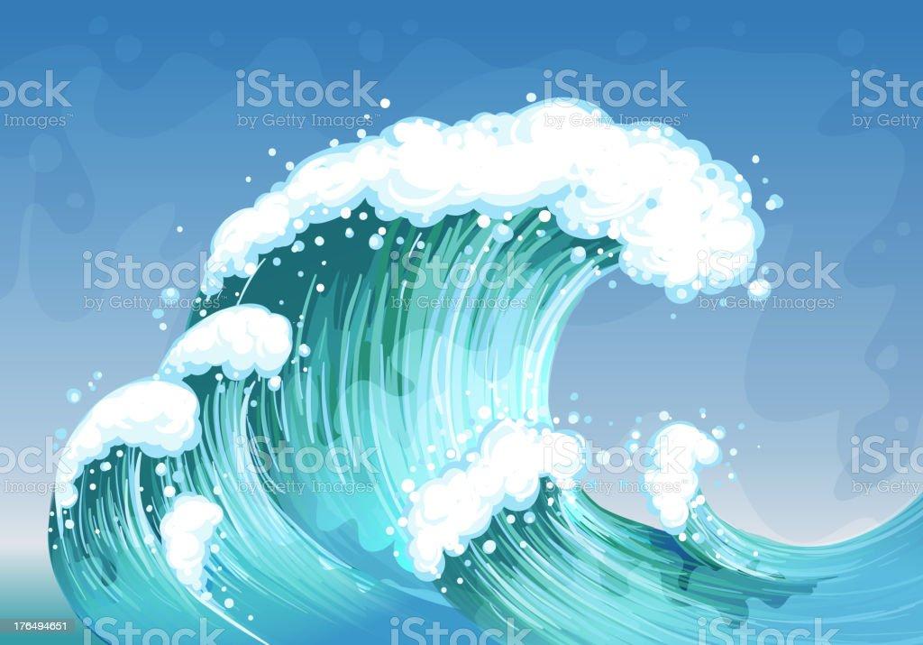 Very big wave royalty-free stock vector art