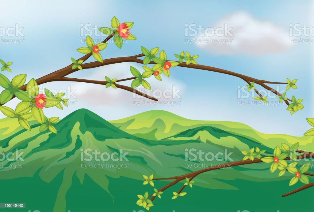 Very high mountain royalty-free stock vector art