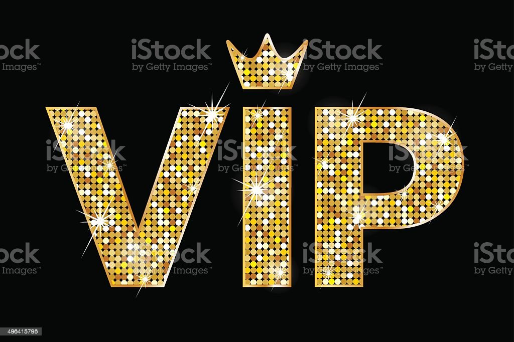 Very important person - VIP icon vector art illustration