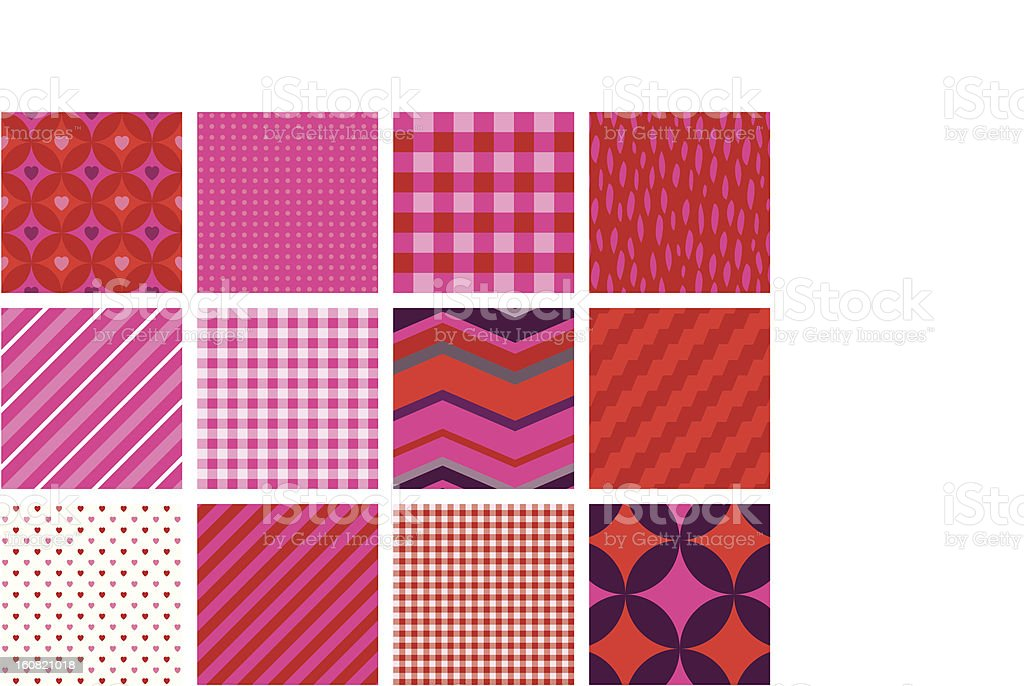 Very Pink seamless patterns royalty-free stock photo