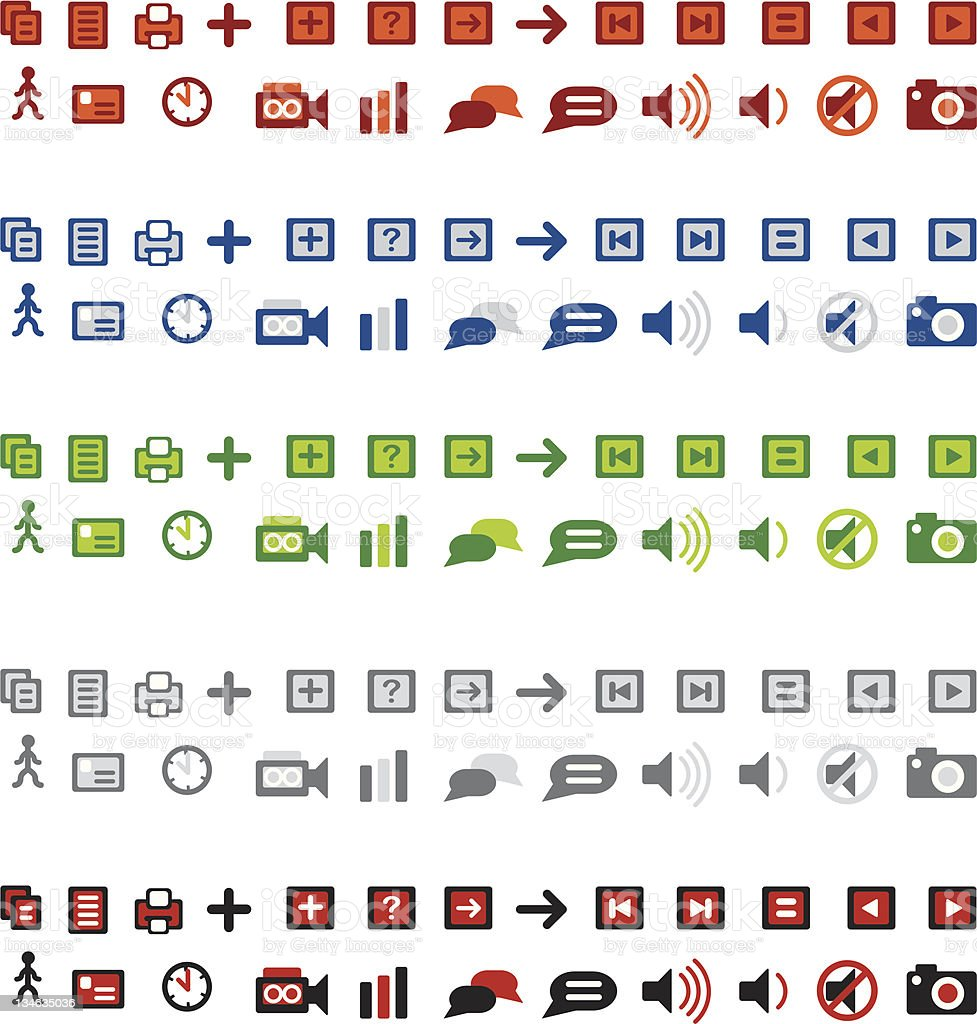 Very Small Web Icons royalty-free stock vector art