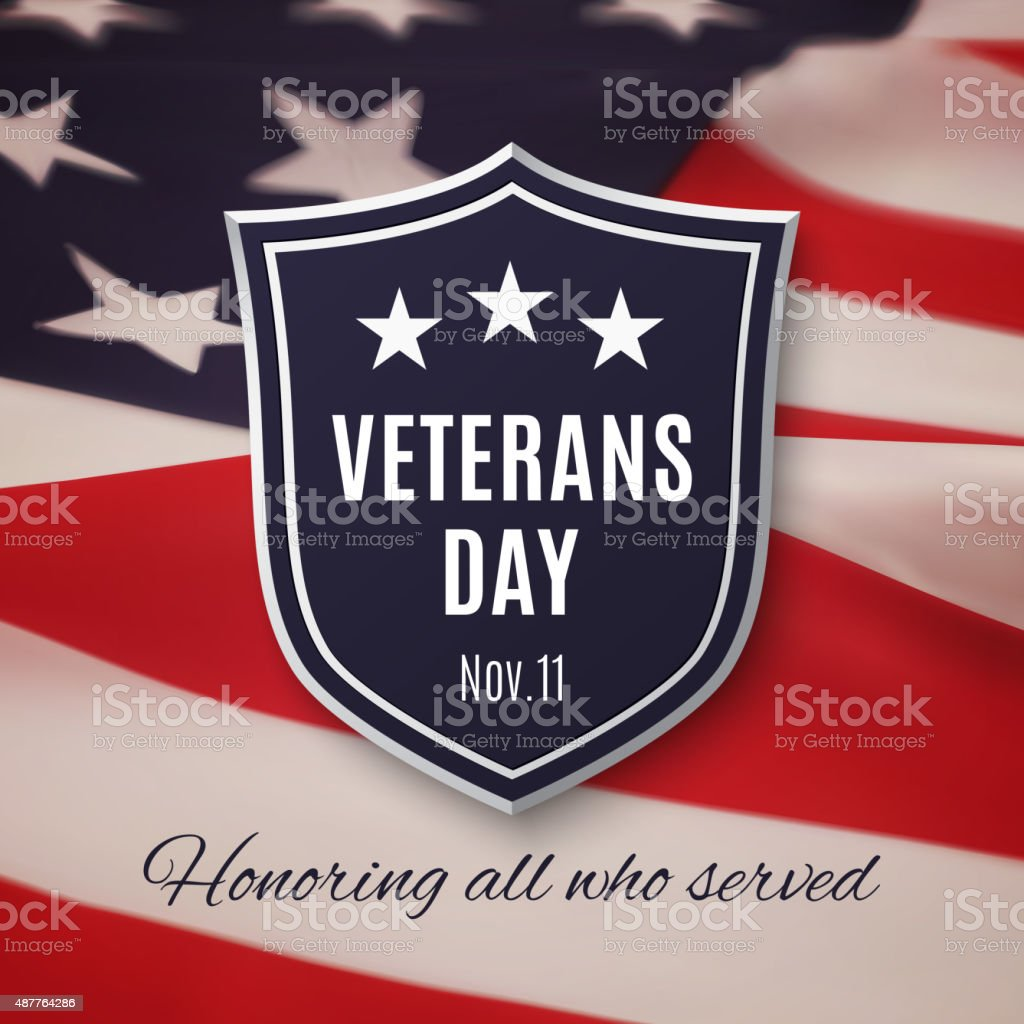 Veterans day background vector art illustration