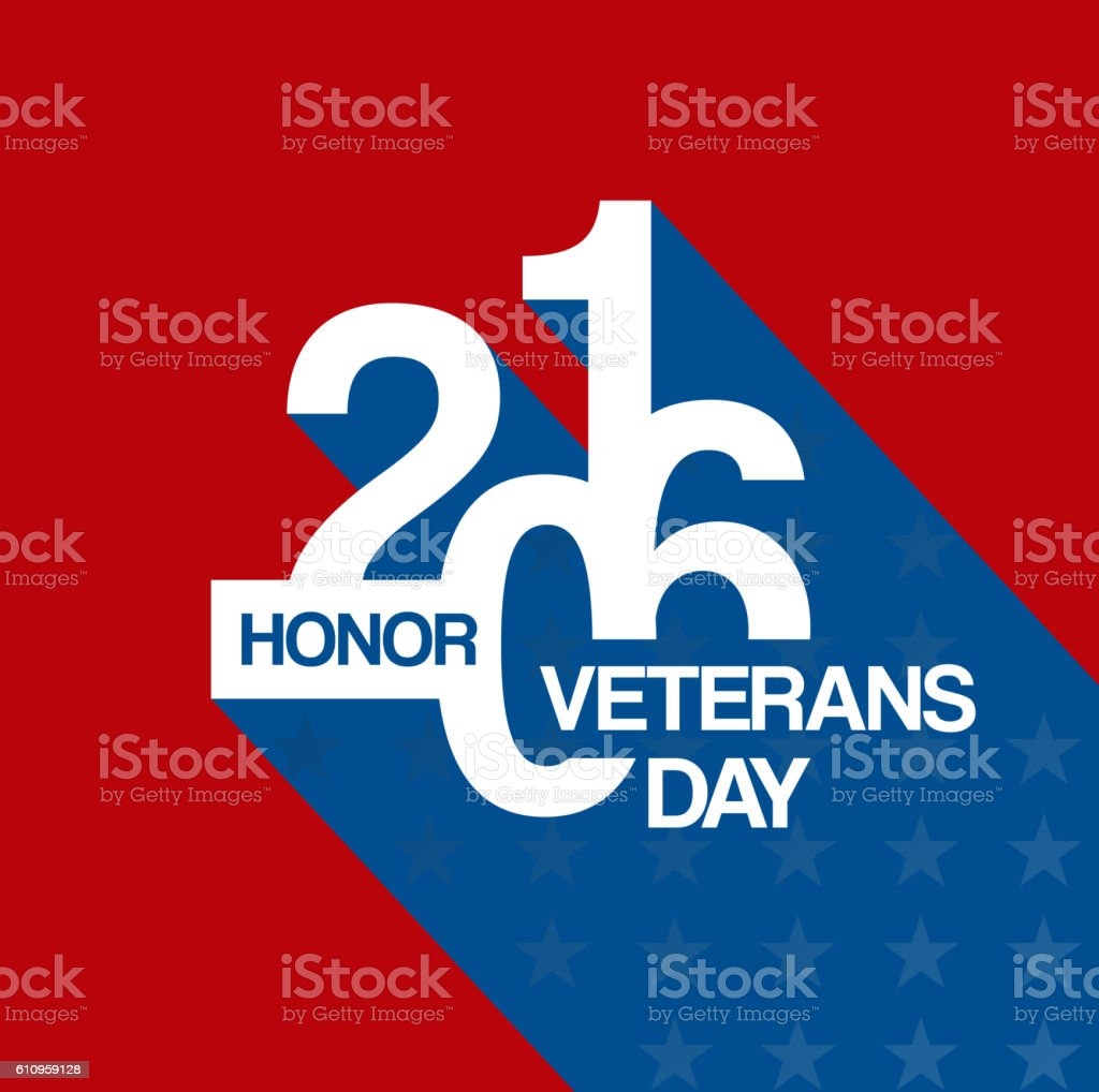 Veterans day design template vector art illustration