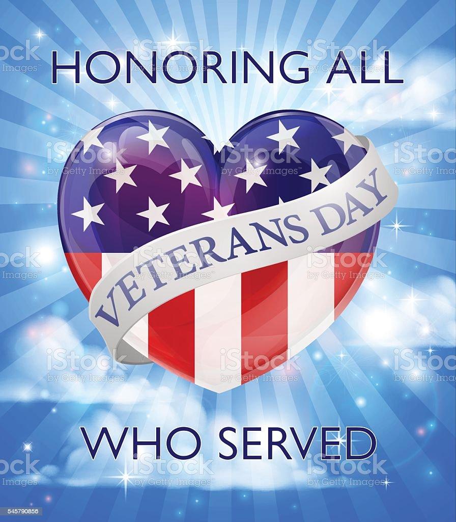 Veterans Day Design vector art illustration