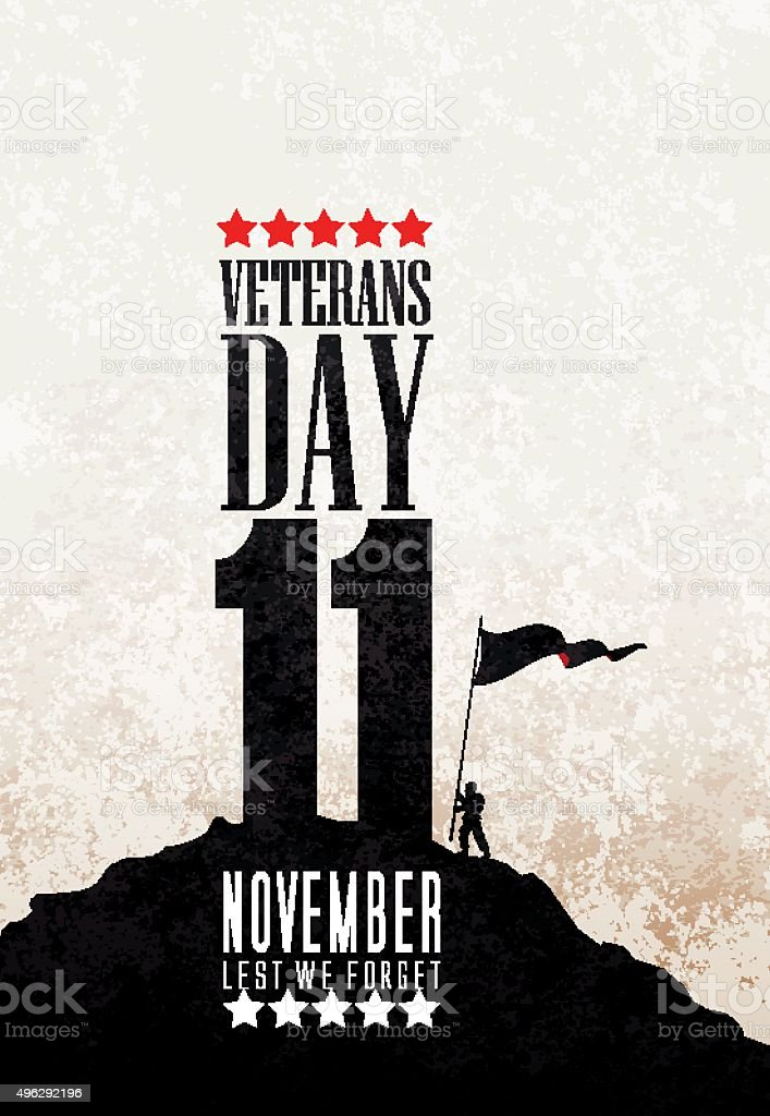 Veteran's Day, remebrance day, anzac day vector art illustration