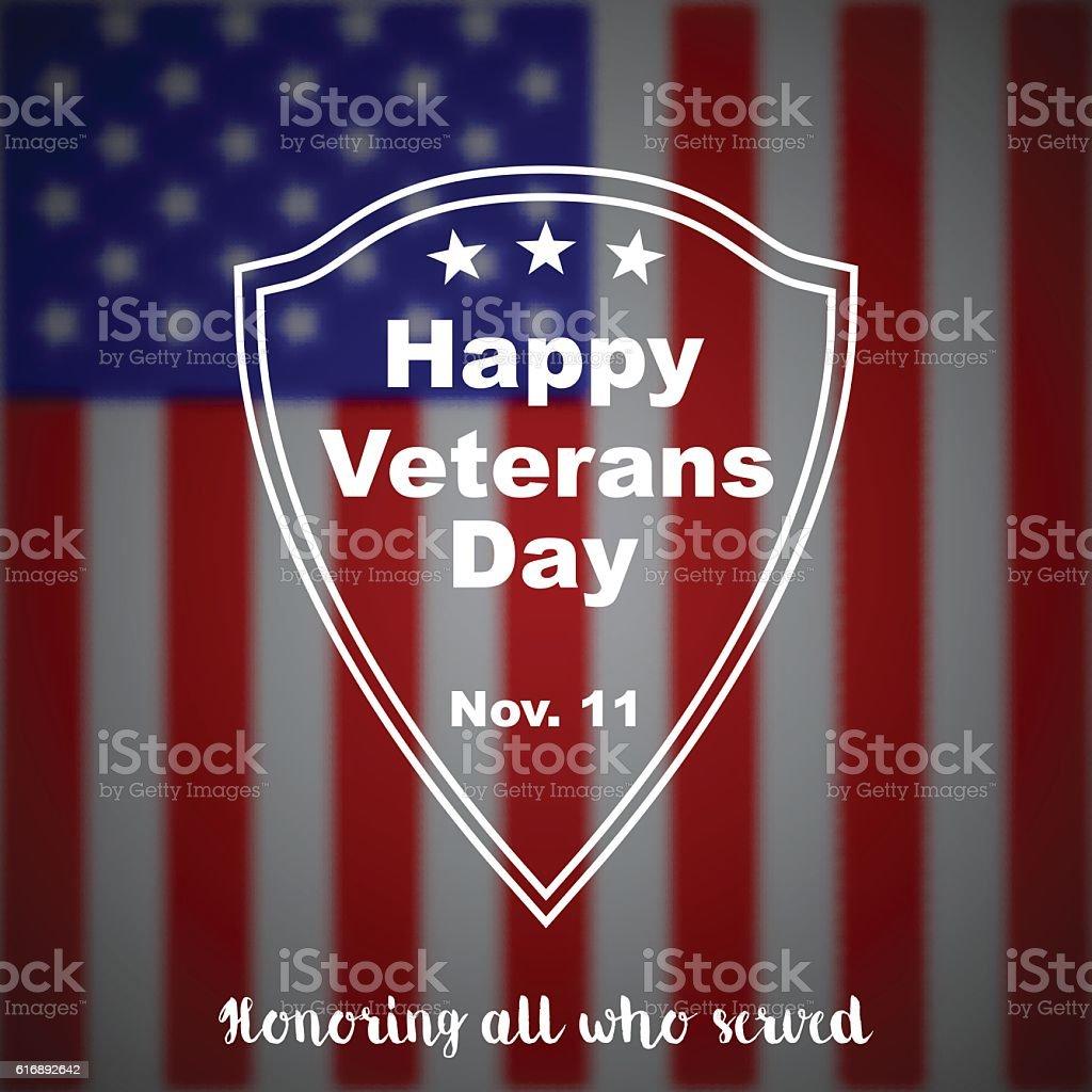 Veterans day vector background. vector art illustration