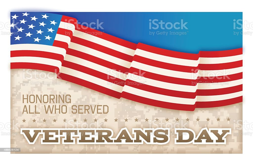 Veterans Day vector art illustration