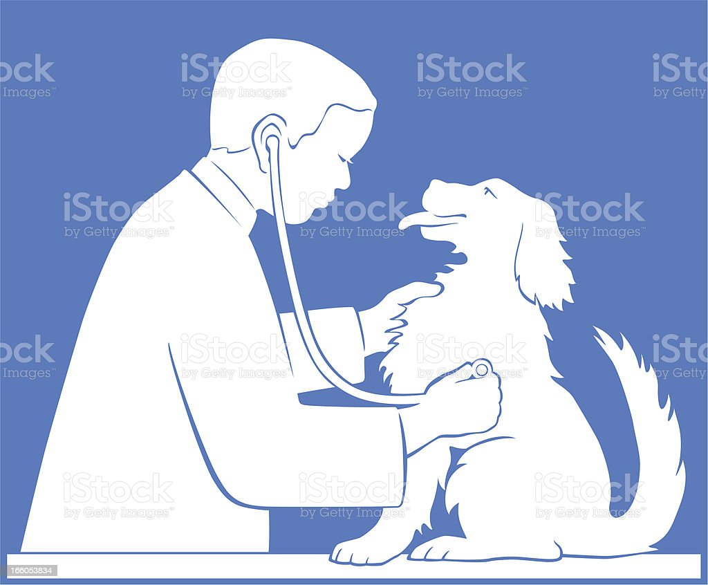 Veterinarian with Dog royalty-free stock vector art
