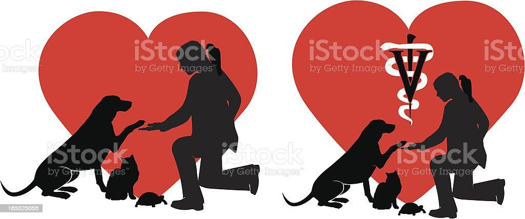 Veterinary Care royalty-free stock vector art