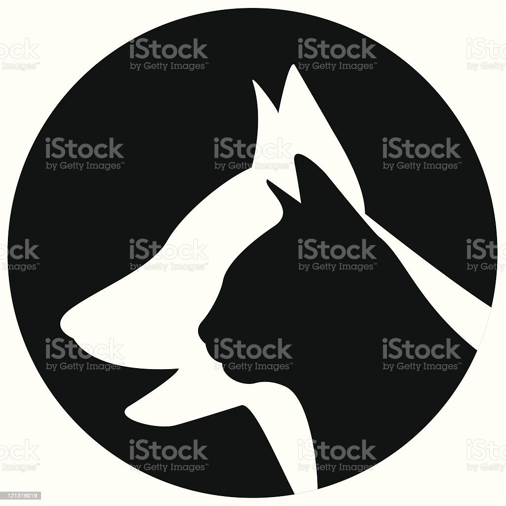 Veterinary icon royalty-free stock vector art