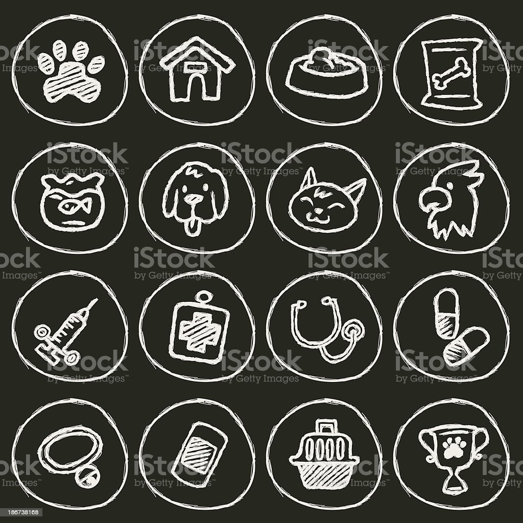 Veterinary Icon vector art illustration