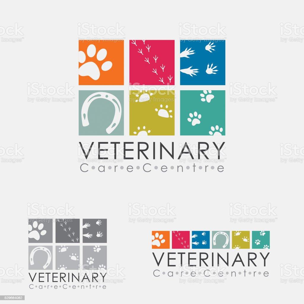 Veterinary Logo vector art illustration