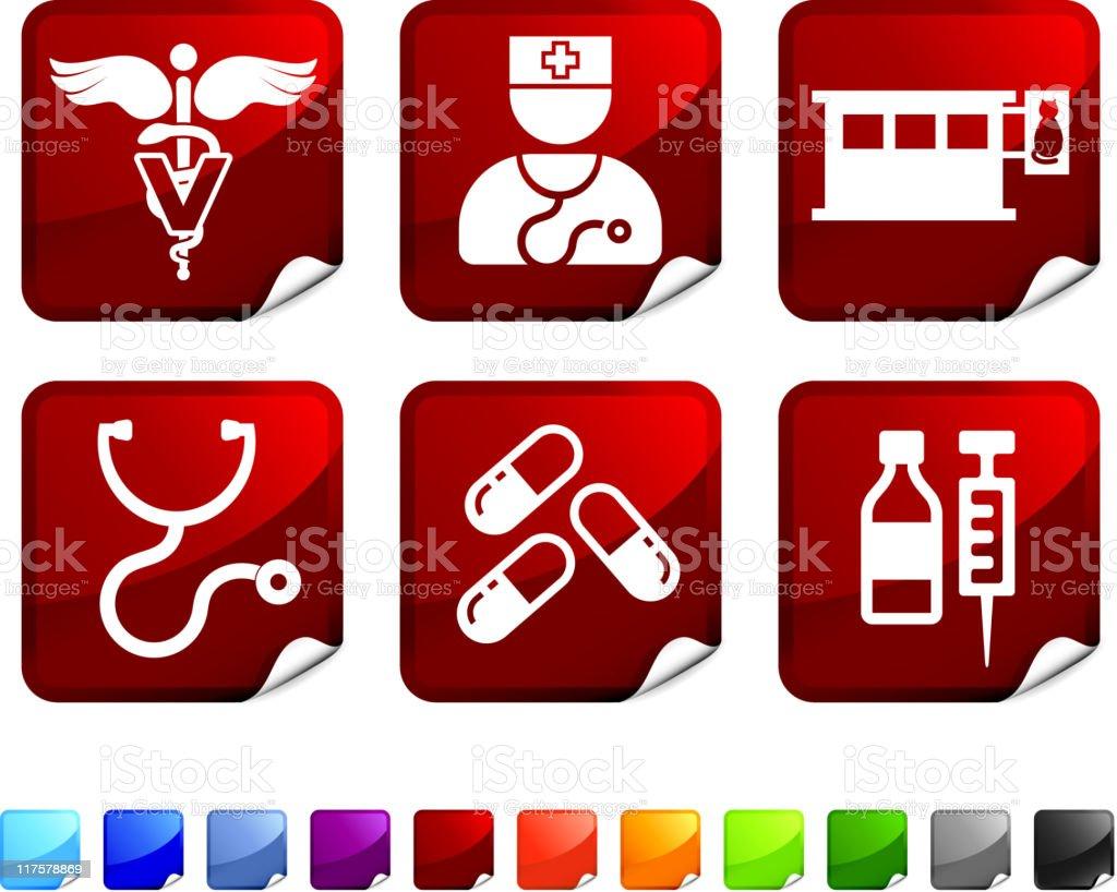 Veterinary royalty free vector icon set stickers royalty-free stock vector art