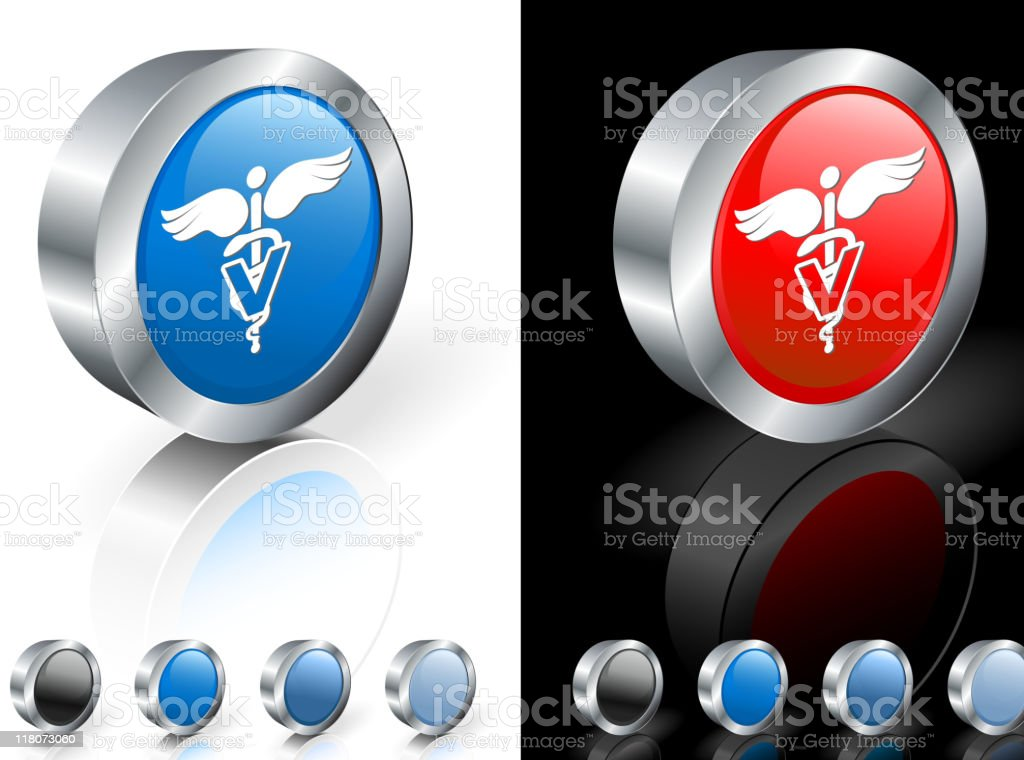 Veterinary sign 3D royalty free vector art royalty-free stock vector art