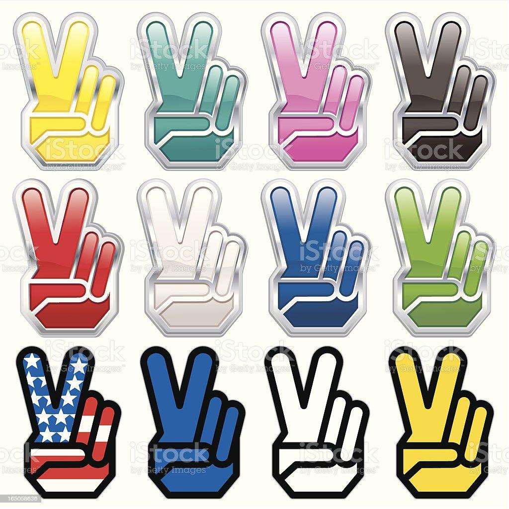 V-Fingers royalty-free stock vector art