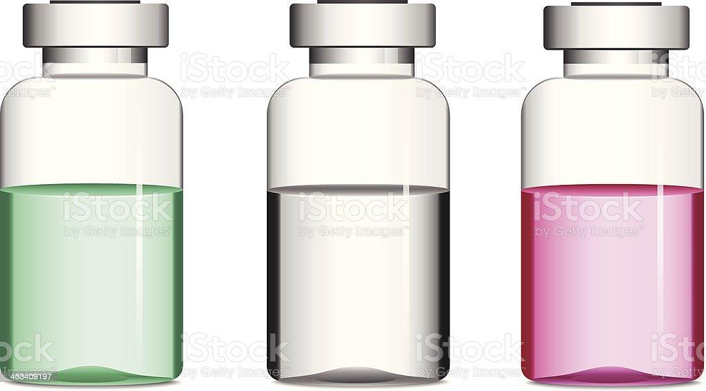 Vials with medicine vector art illustration