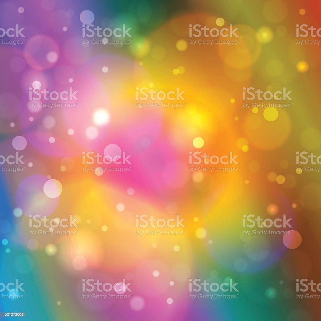 Vibrant  Abstract Bokeh Background vector art illustration