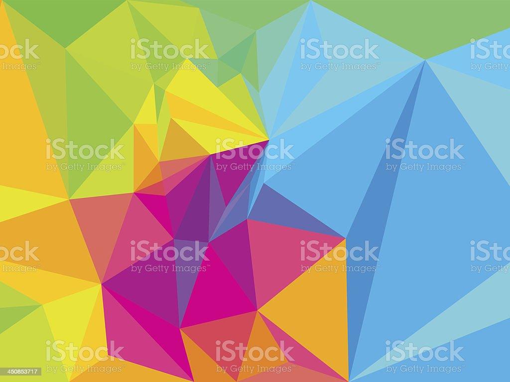 Vibrant Colorful Prism vector art illustration