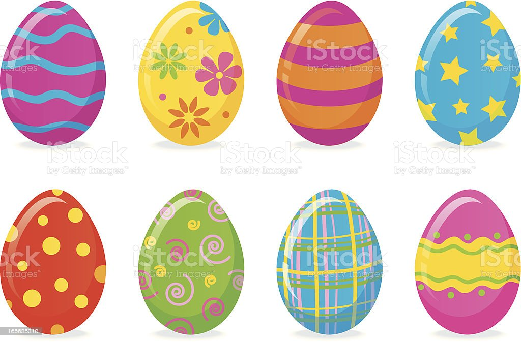Vibrant Easter Eggs royalty-free stock vector art