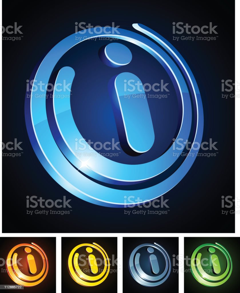 Vibrant 'i' sign. royalty-free stock vector art
