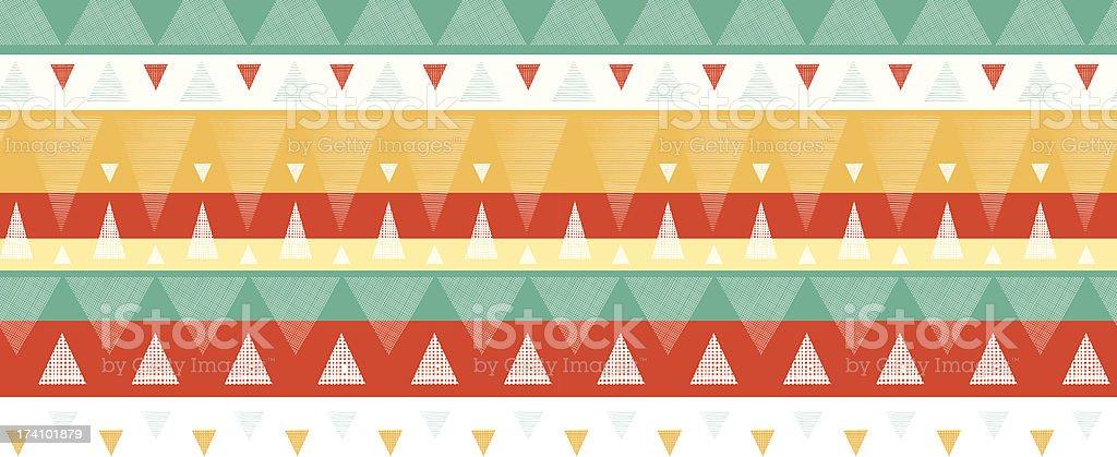 Vibrant ikat stripes horizontal seamless pattern background royalty-free stock vector art