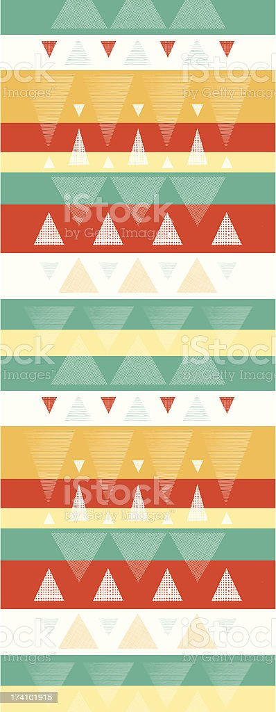 Vibrant ikat stripes vertical seamless pattern background royalty-free stock vector art
