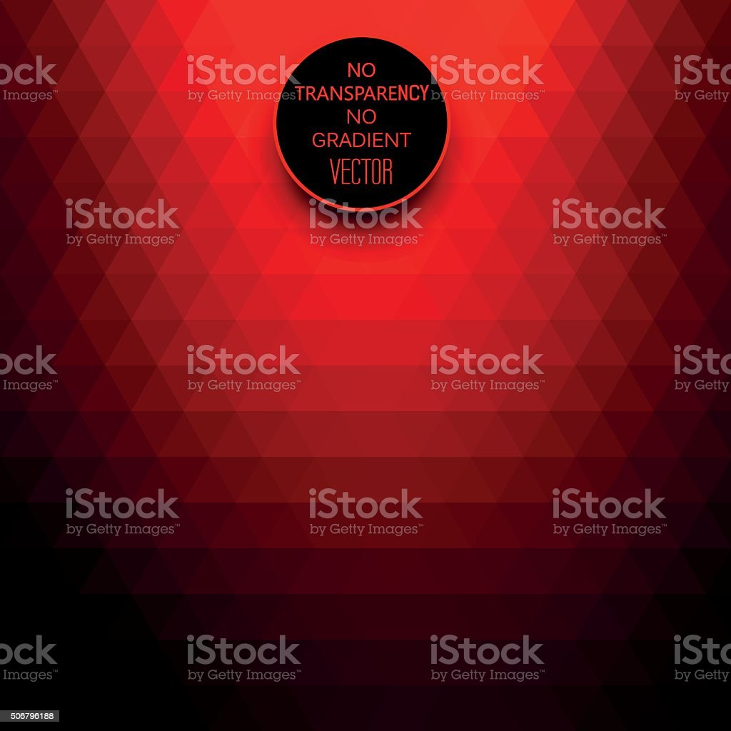 Vibrant red colors abstract geometric background vector art illustration