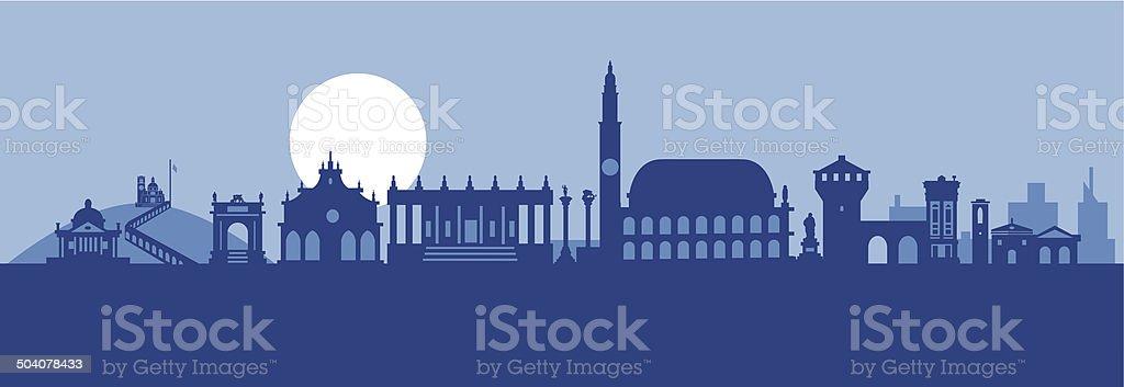 Vicenza skyline vector art illustration