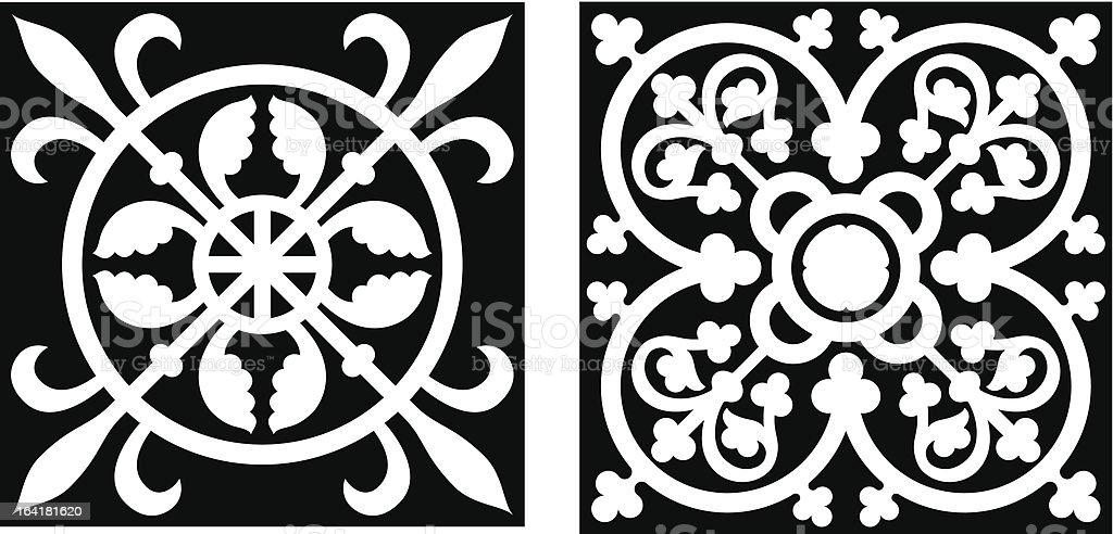 Vicrtorian Style Design Elemets (Vector) royalty-free stock vector art
