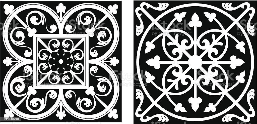 Vicrtorian Style Design vector art illustration
