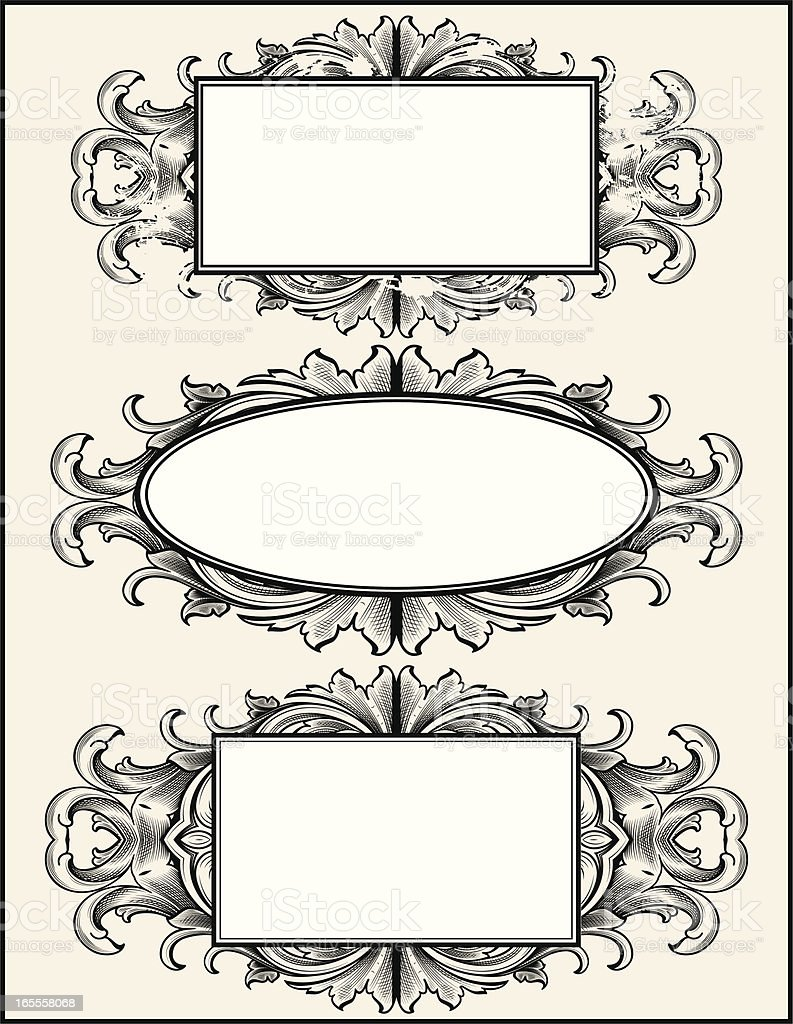 Victorian Banners royalty-free stock vector art