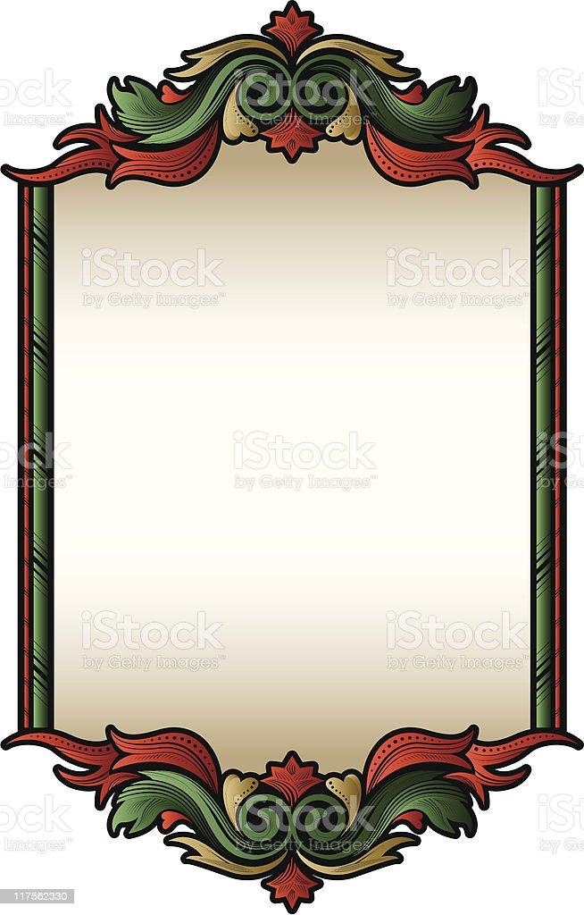 Victorian Christmas Frame royalty-free stock vector art