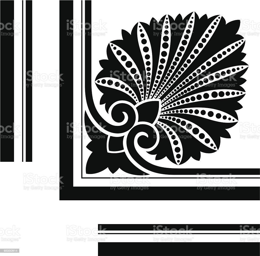 Victorian Corner Design royalty-free stock vector art