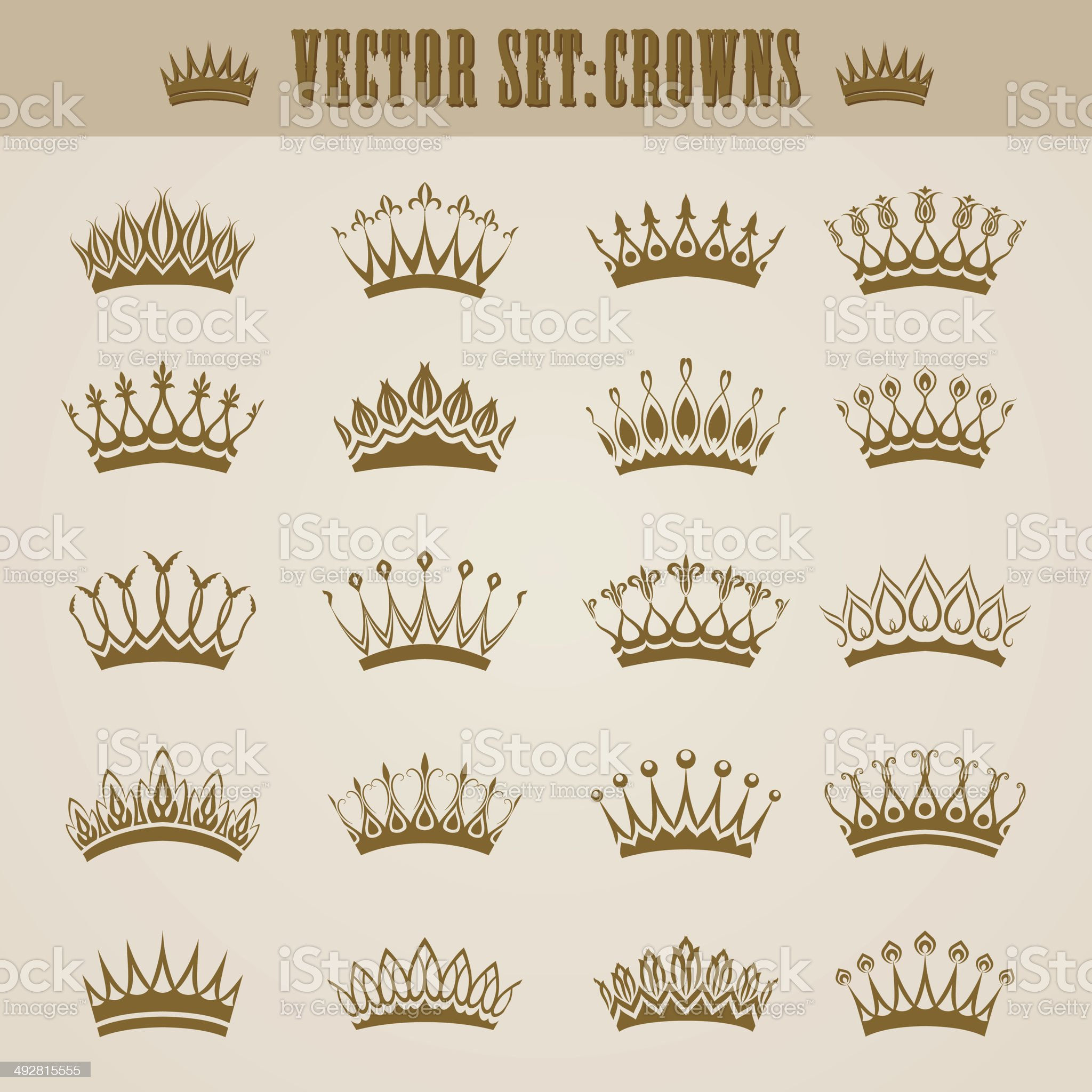 Victorian crowns royalty-free stock vector art
