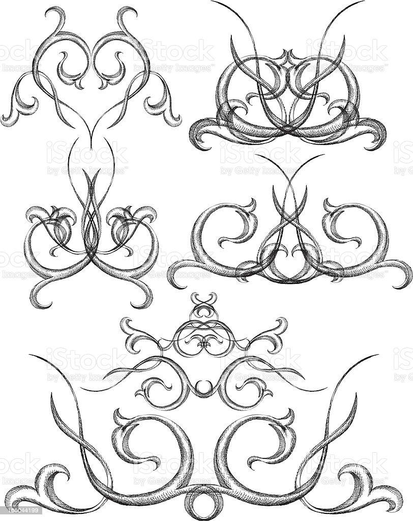 victorian Kurven Lizenzfreies vektor illustration
