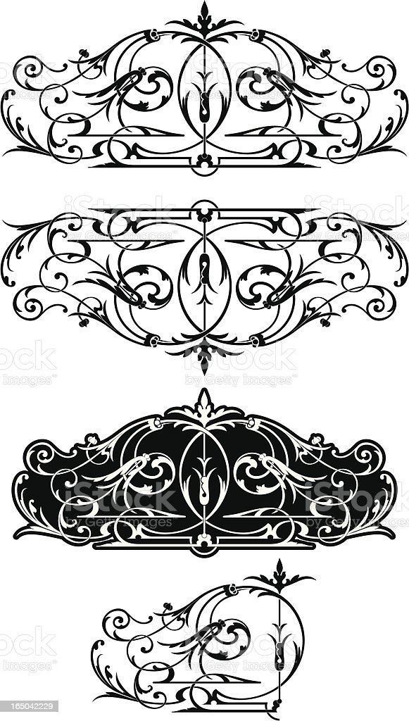 Victorian Cut Glass Scroll royalty-free stock vector art