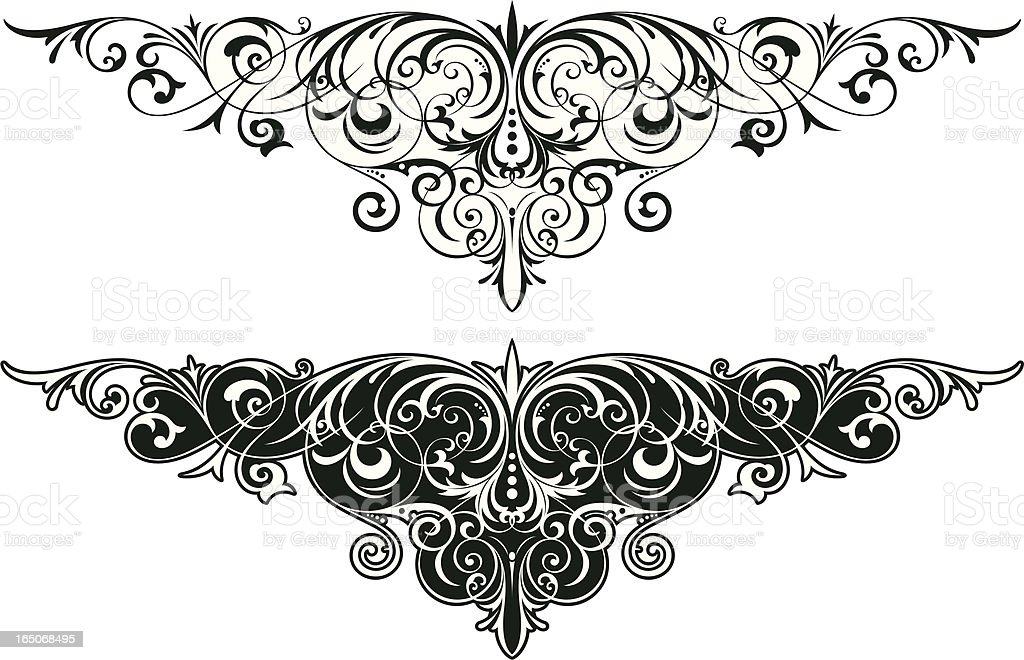 Victorian Decorative Scrolls royalty-free stock vector art