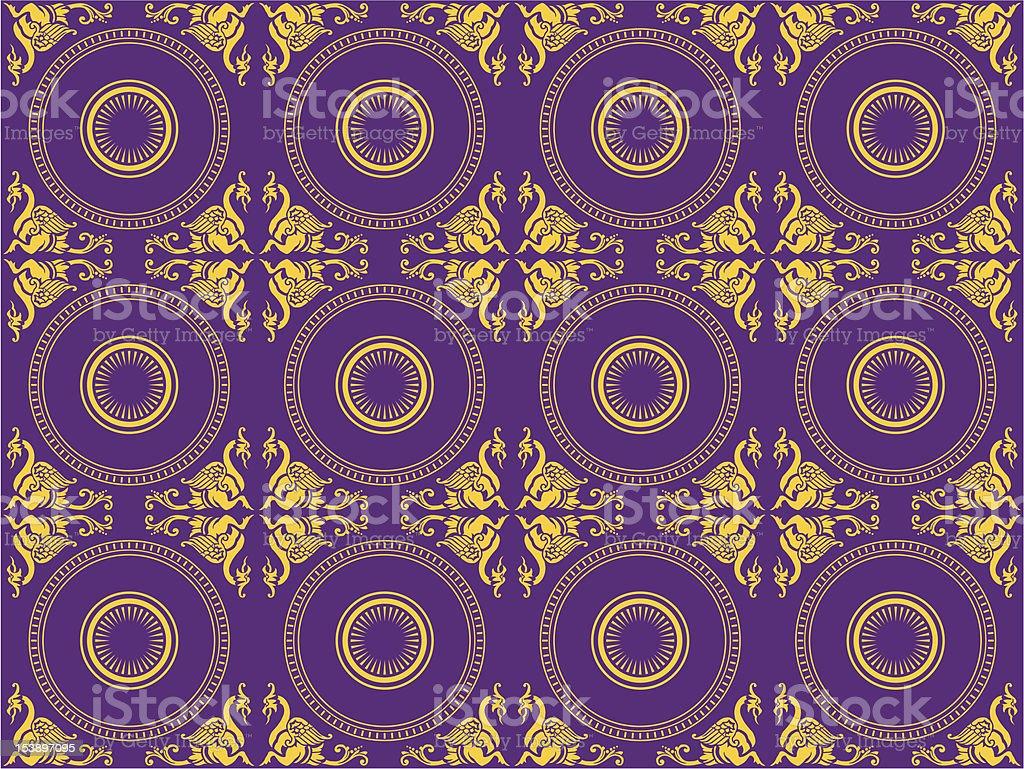 victorian decorative wallpaper pattern royalty-free stock vector art