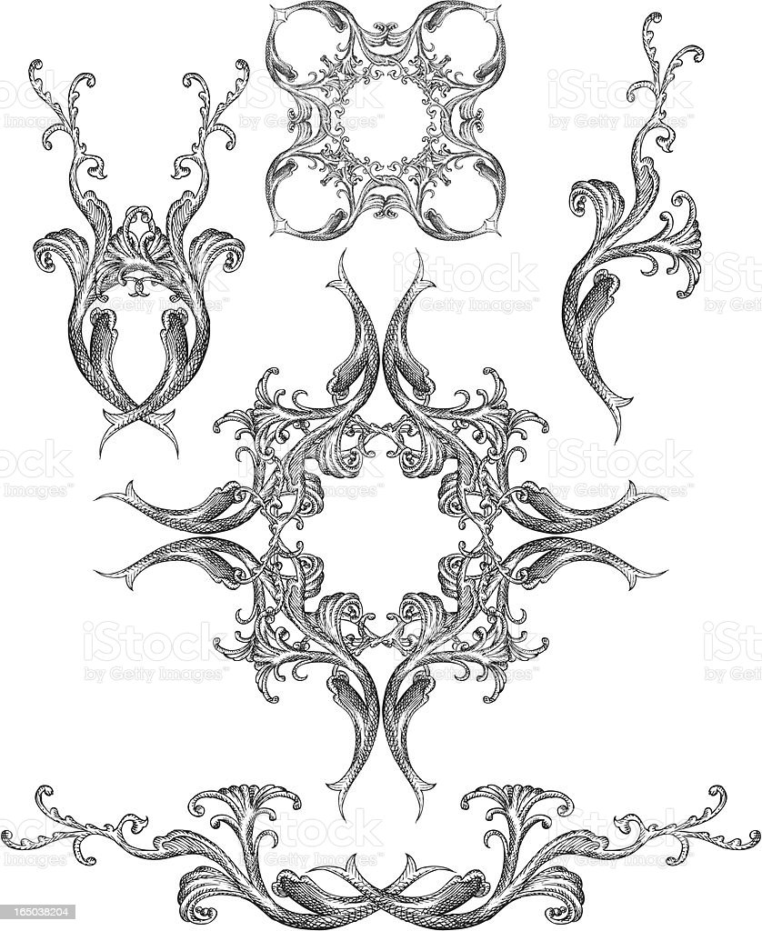Victorian Design Elements victorian design elements stock vector art 165038204 | istock