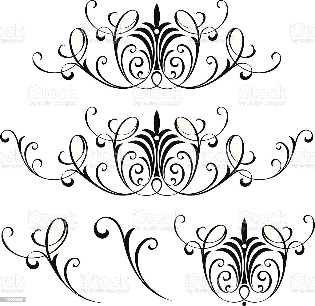 Victorian English Scrolls royalty-free stock vector art