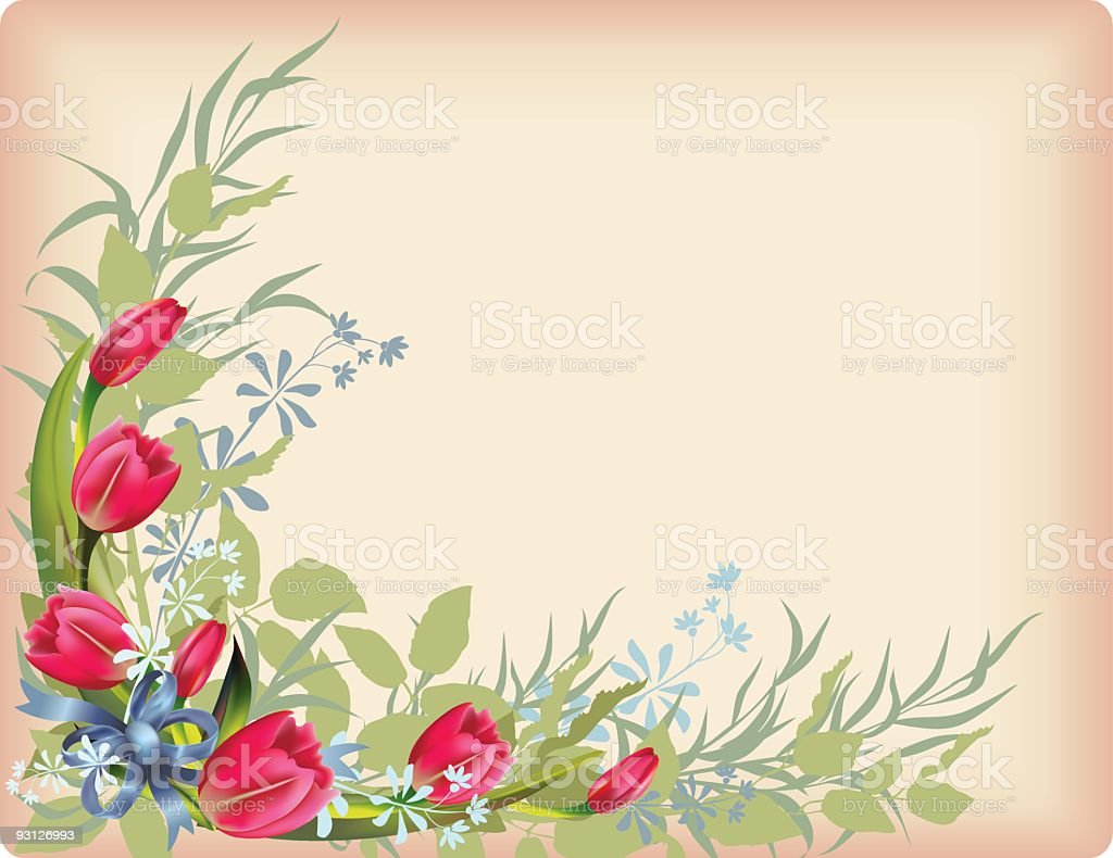 Victorian Floral Background royalty-free stock vector art