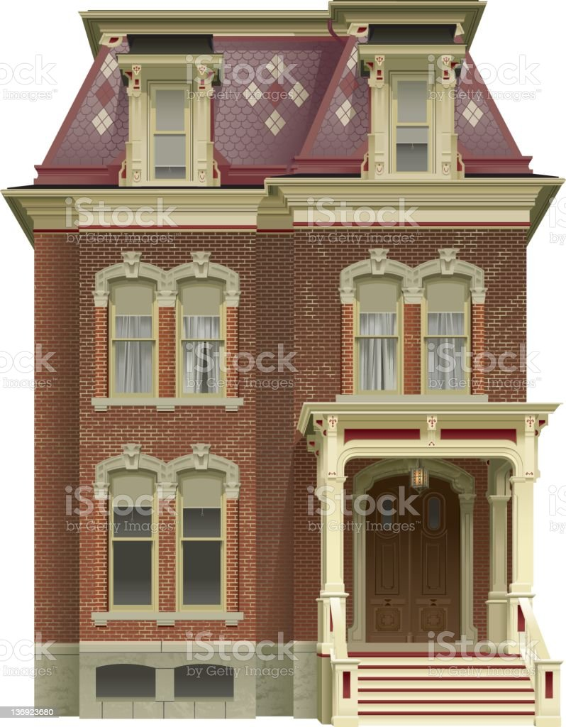 Victorian House vector art illustration