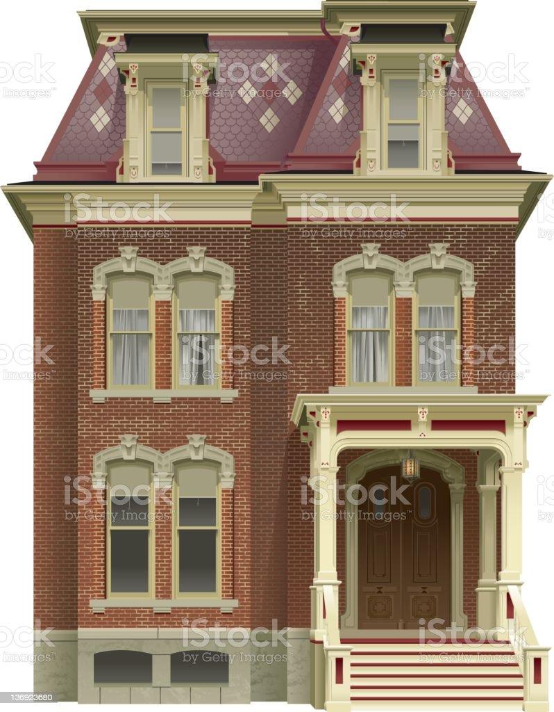 Victorian House vector art illustration