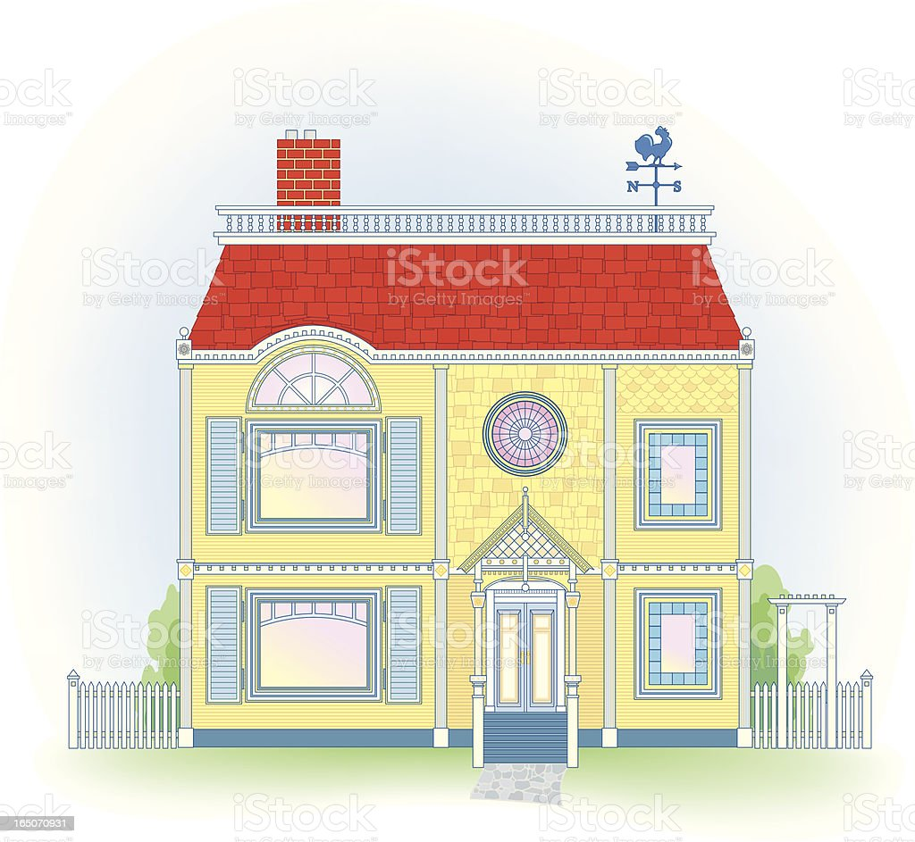 Victorian House royalty-free stock vector art