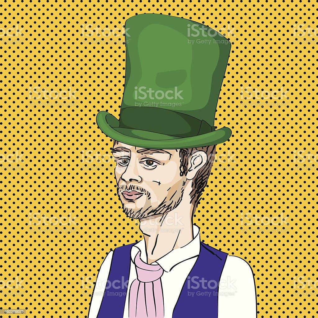 Victorian man royalty-free stock vector art