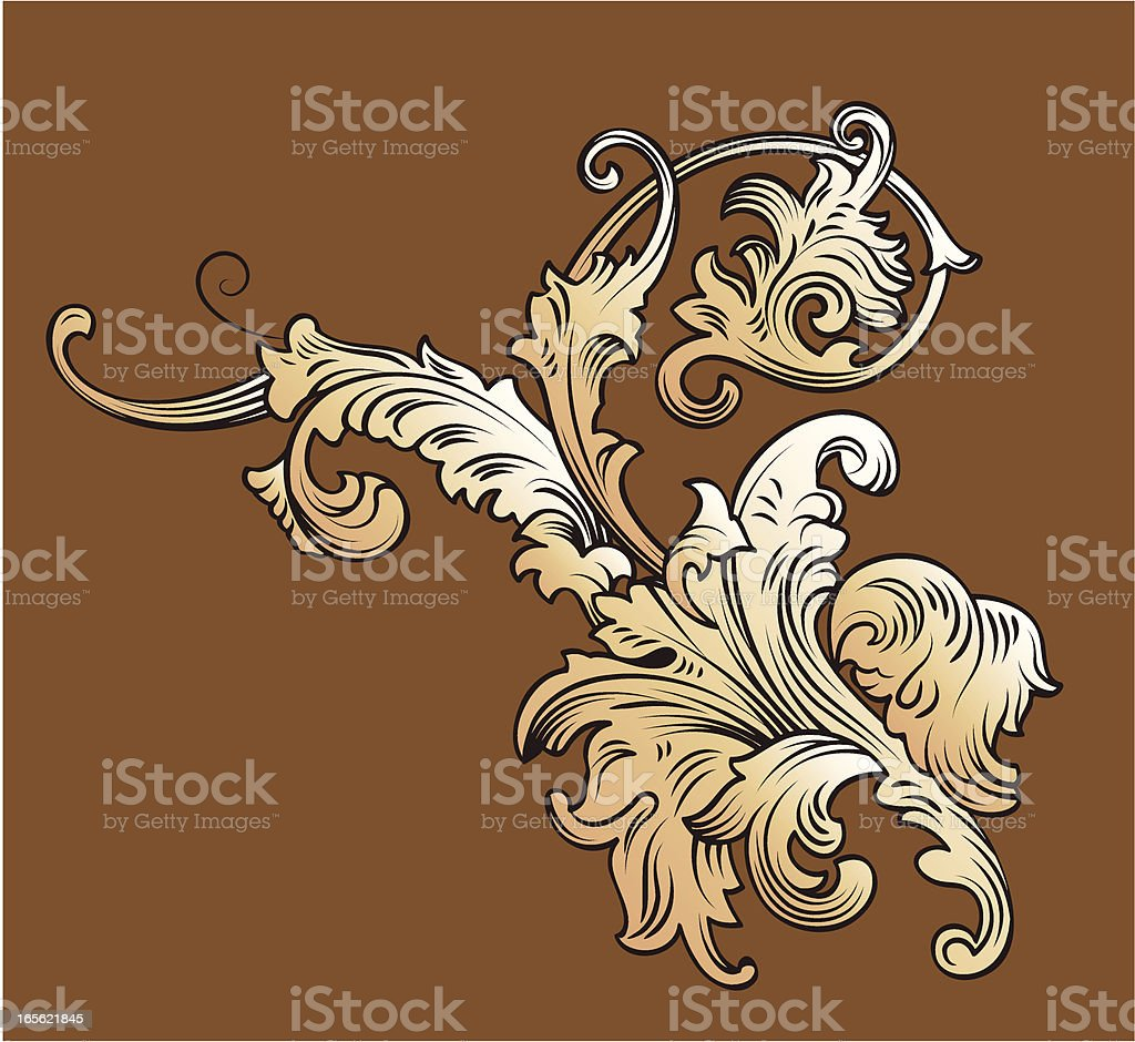 Victorian old-fashioned decoration royalty-free stock vector art
