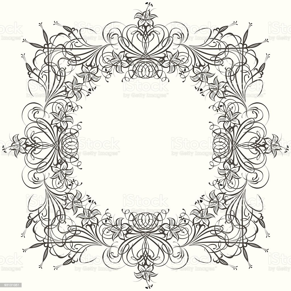 Victorian ornament royalty-free stock vector art