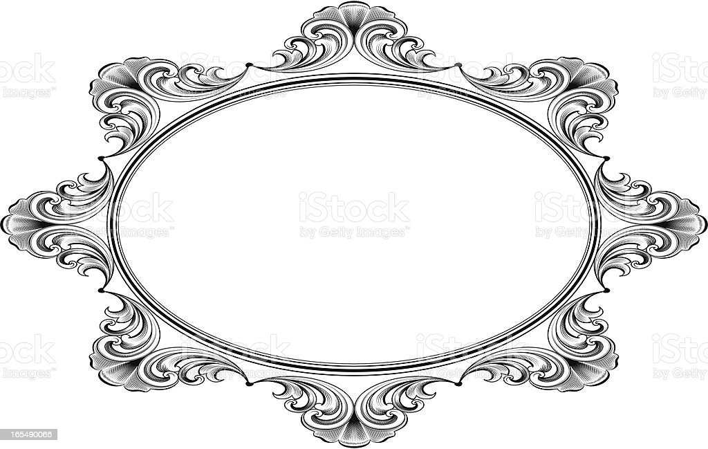 Victorian Oval royalty-free stock vector art