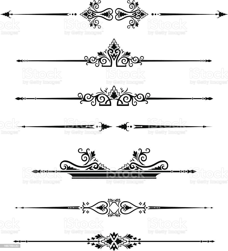 Victorian Page Rule royalty-free stock vector art