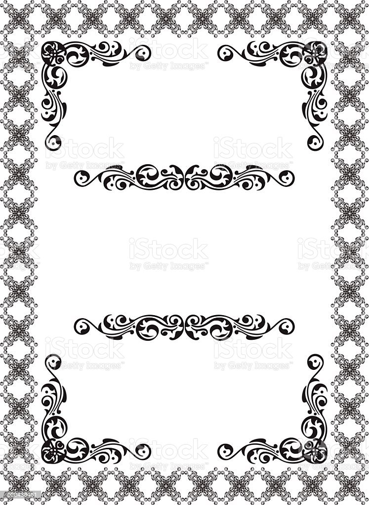 Victorian page vector art illustration